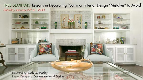 FREE SEMINAR + GIVEAWAYS - Charleston Interior Design Domain